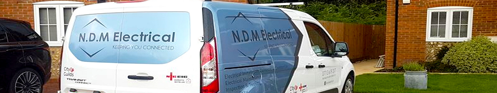 Electrician in Hampshire banner photo of van